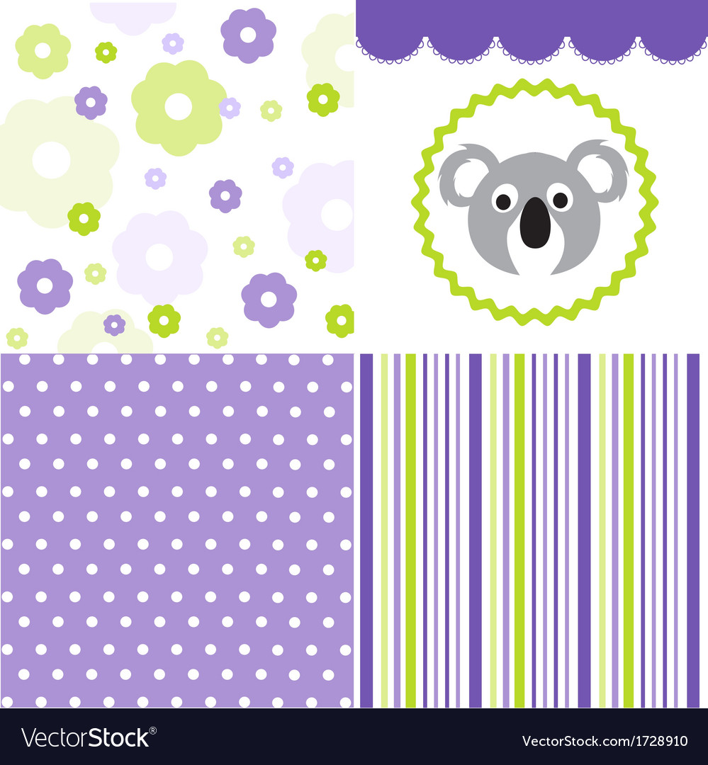 Baby pattern set vector | Price: 1 Credit (USD $1)