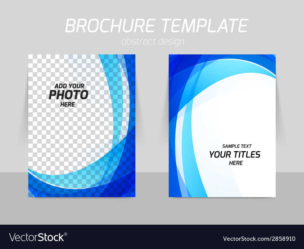 Back and front flyer template design vector | Price: 1 Credit (USD $1)