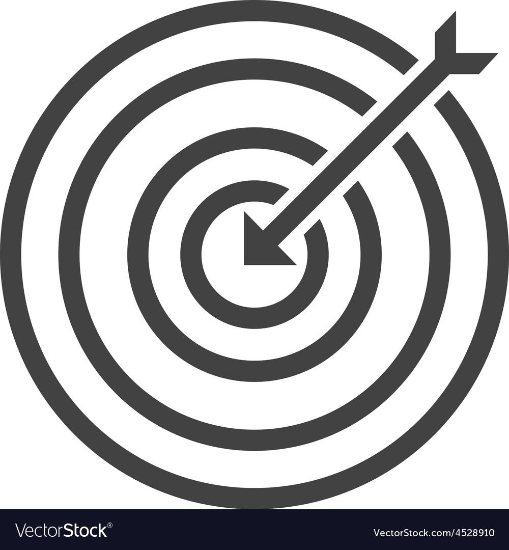 Dartboard vector | Price: 1 Credit (USD $1)