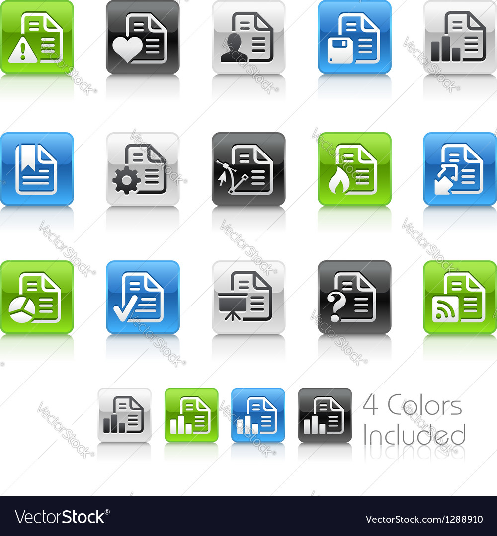 Document icons 2 clean series vector | Price: 1 Credit (USD $1)