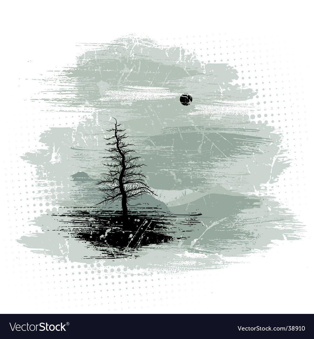 Grunge landscape vector | Price: 1 Credit (USD $1)
