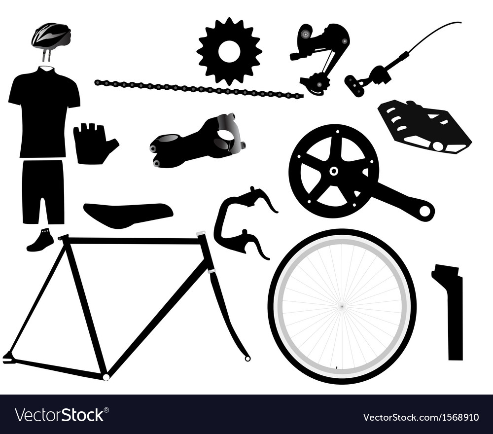 Parts for bicycles vector | Price: 1 Credit (USD $1)