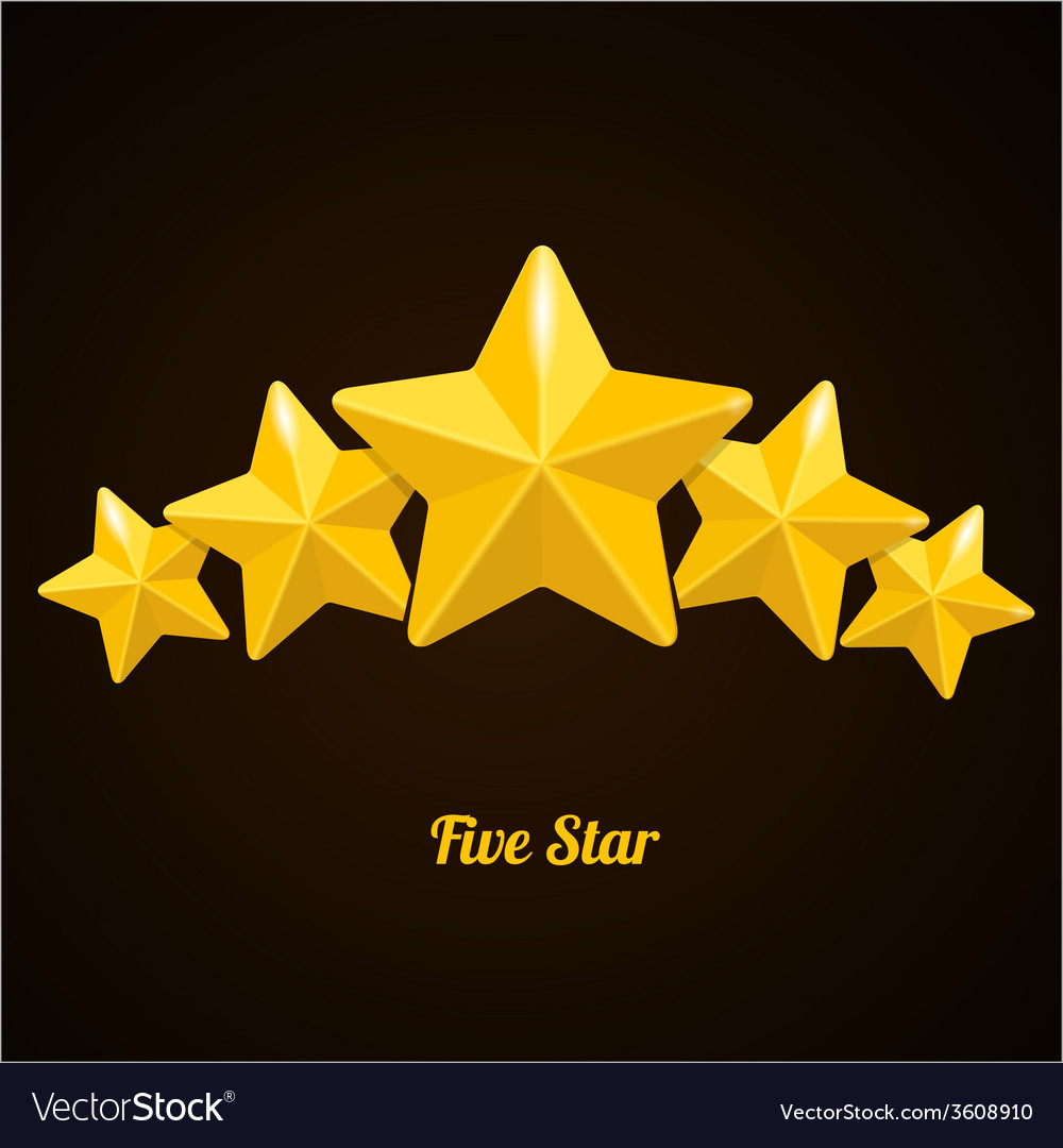 Rating with five stars concept on black vector | Price: 1 Credit (USD $1)