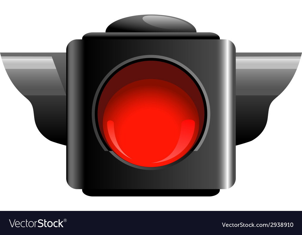 Red traffic light vector | Price: 1 Credit (USD $1)