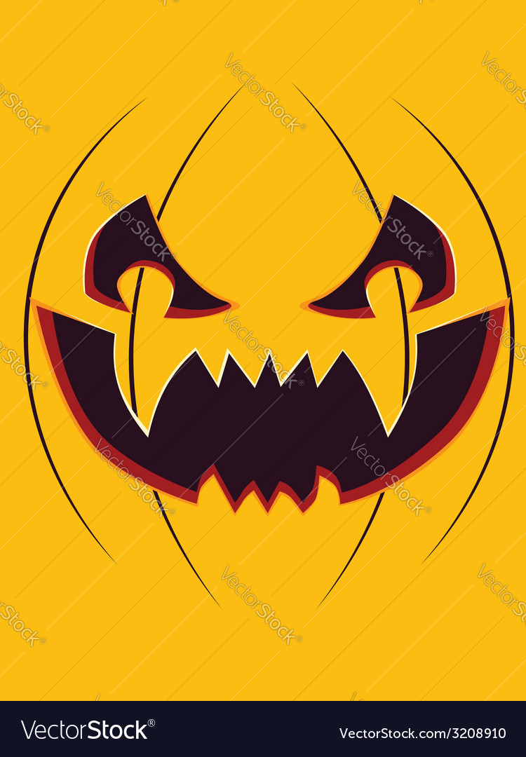 Scary pumpkin face vector | Price: 1 Credit (USD $1)