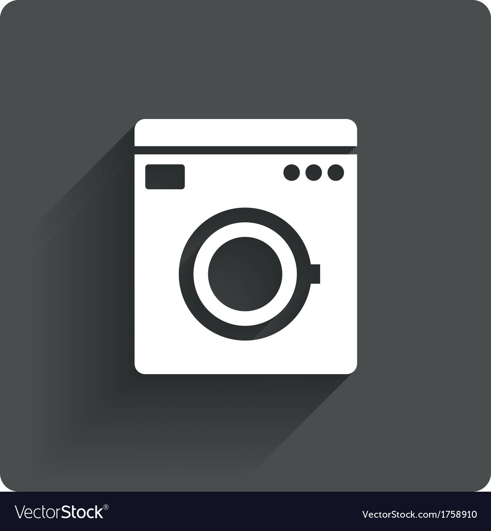 Washing machine icon wash machine symbol vector | Price: 1 Credit (USD $1)