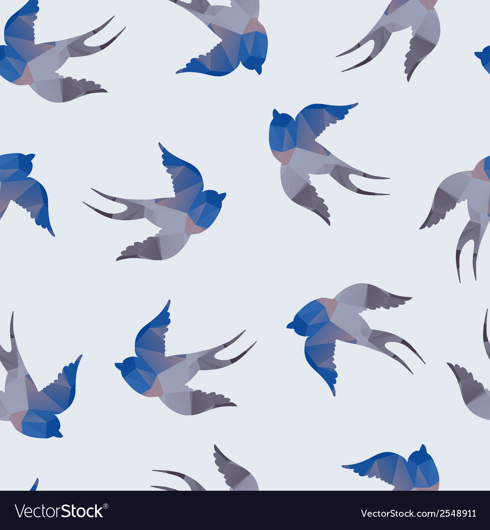 Abstract seamless with swallows vector | Price: 1 Credit (USD $1)