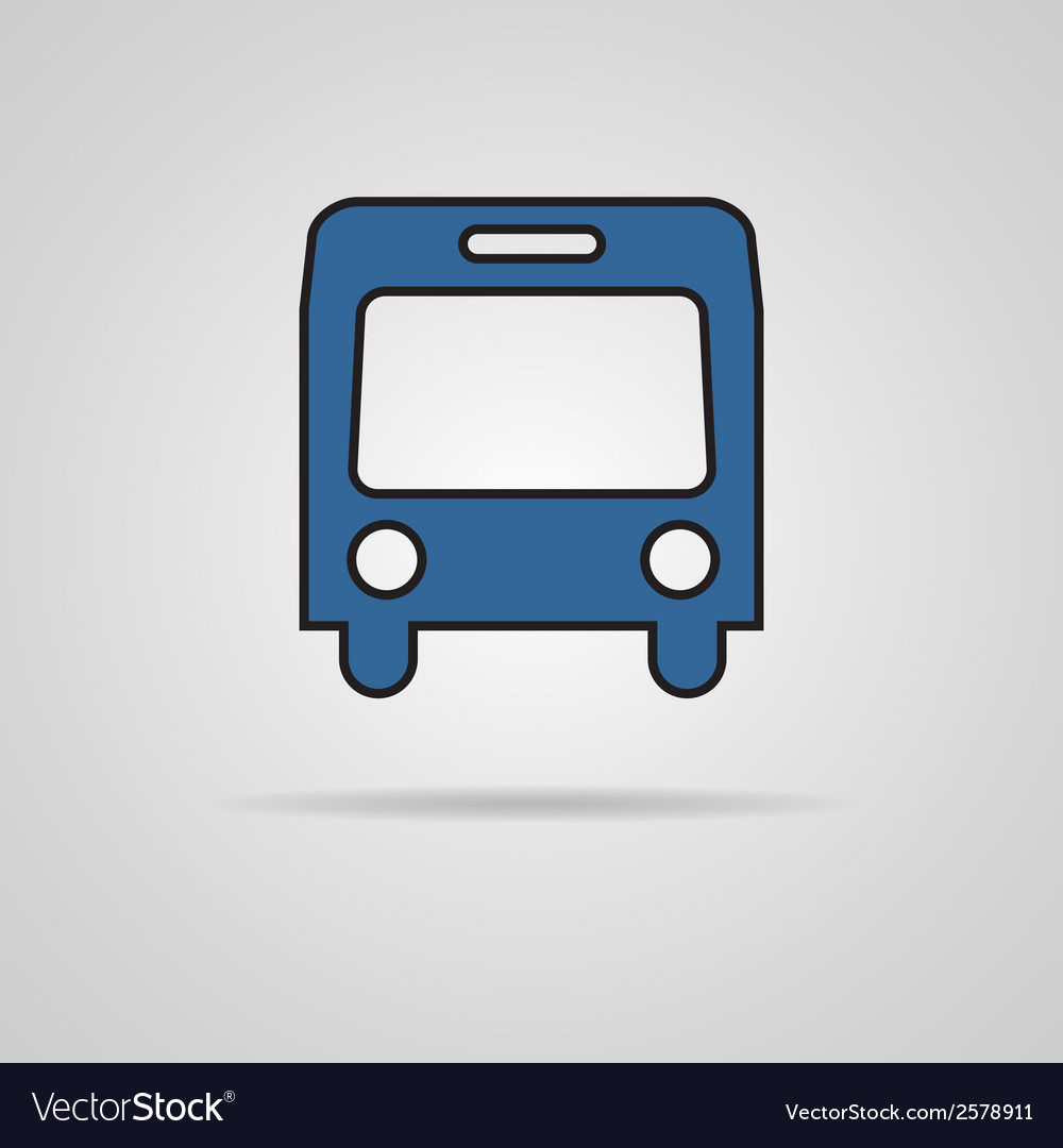 Bus symbol on gray background vector | Price: 1 Credit (USD $1)