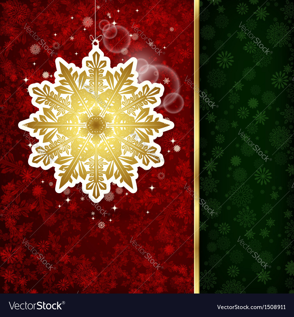Christmas decoration and snowflakes vector | Price: 1 Credit (USD $1)