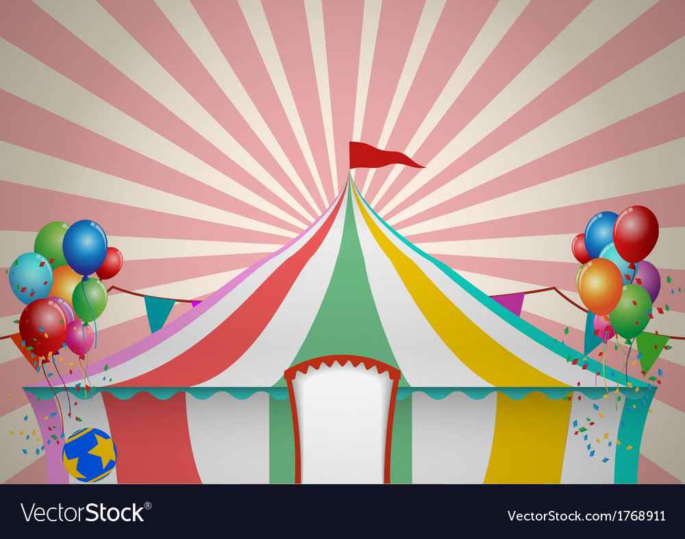 Circus tent celebration vector | Price: 1 Credit (USD $1)