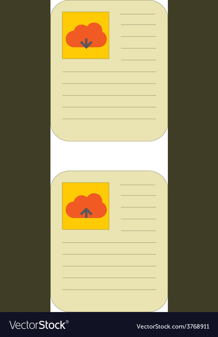 Cloud download and upload icon 17 vector | Price: 1 Credit (USD $1)