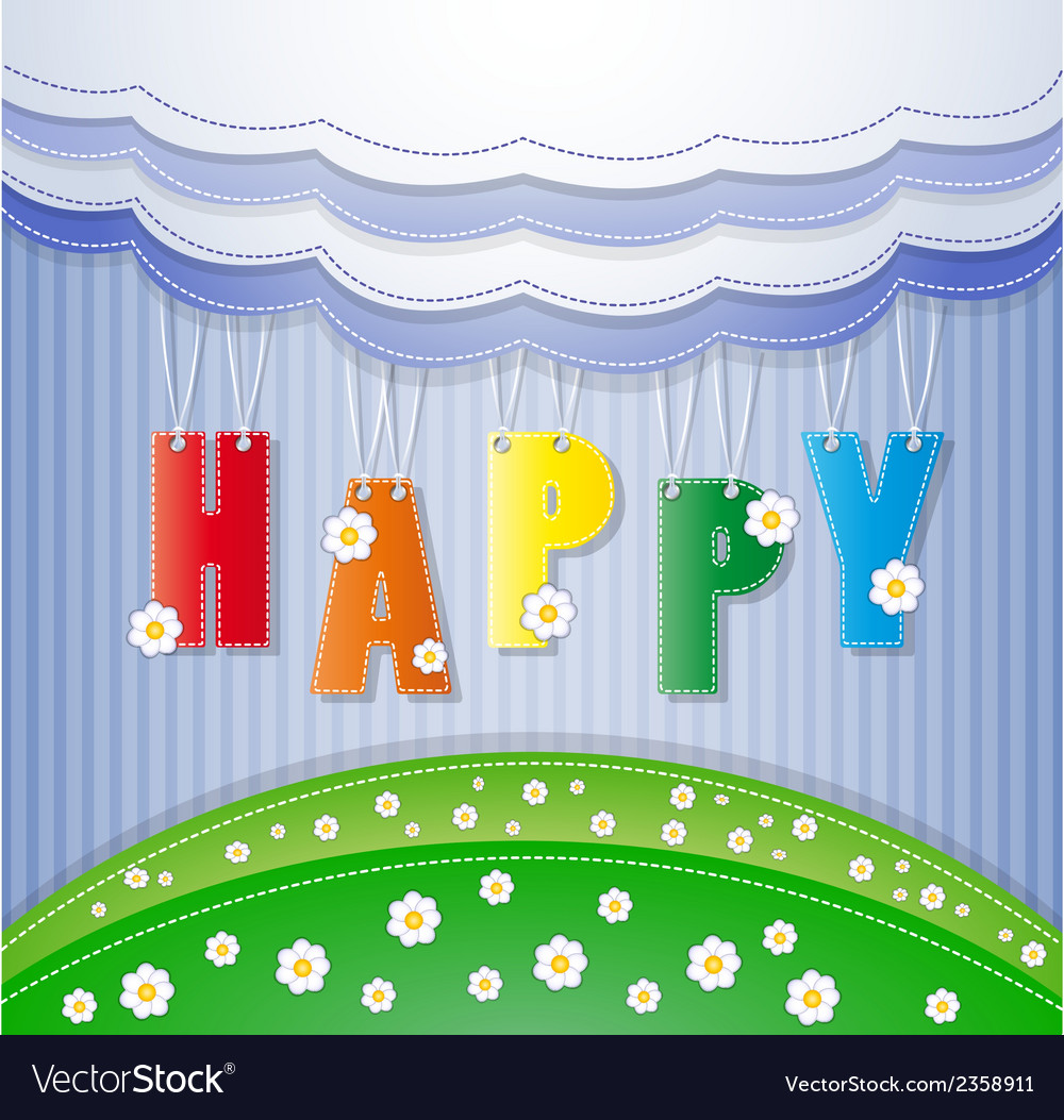 Colorful greeting card vector | Price: 1 Credit (USD $1)