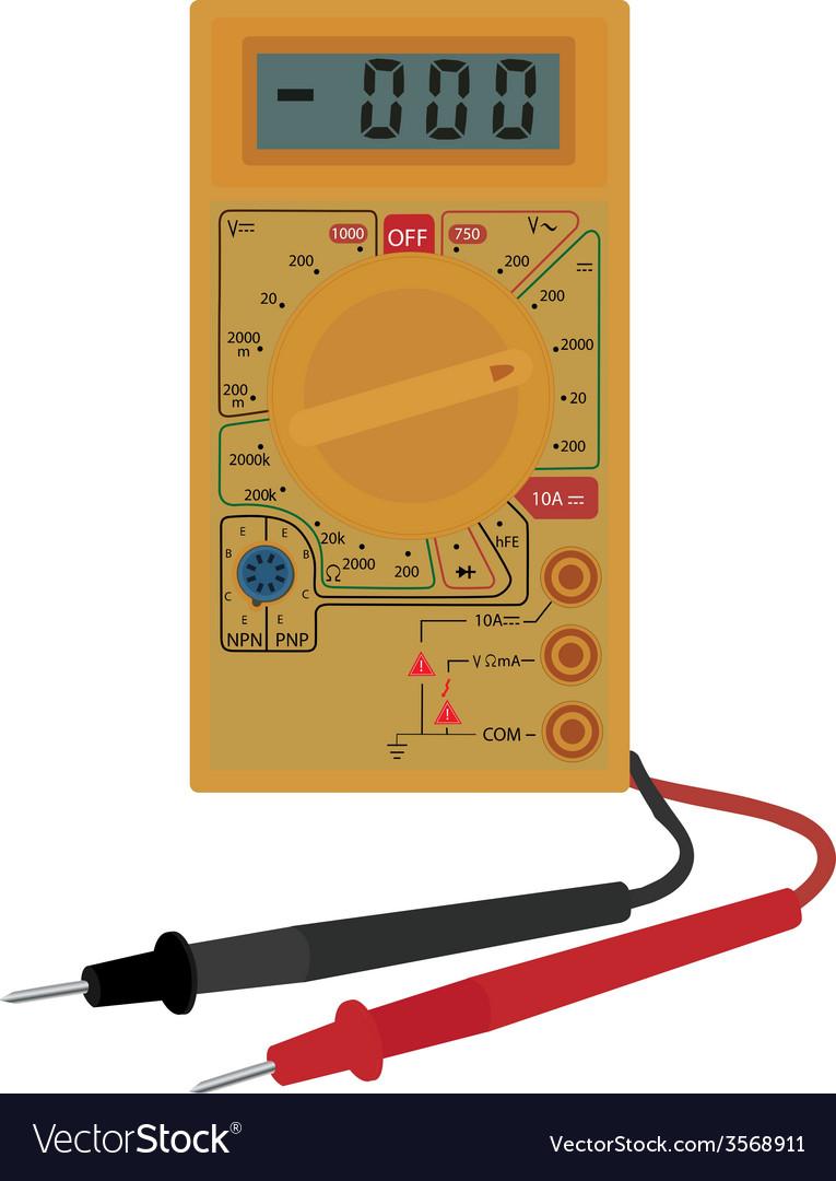 Digital electric multimeter vector   Price: 1 Credit (USD $1)