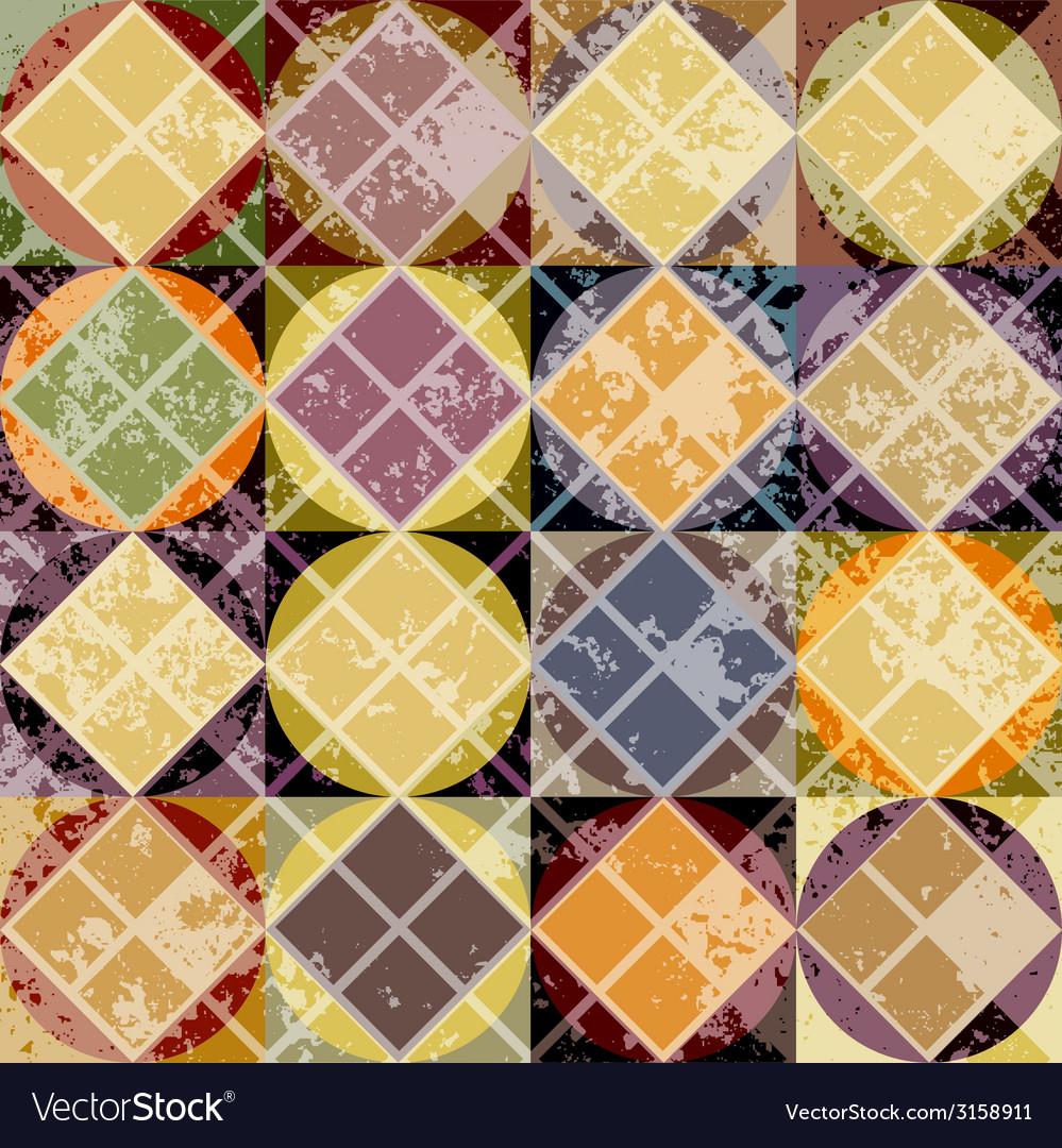 Grunge geometric yellow pattern vector   Price: 1 Credit (USD $1)