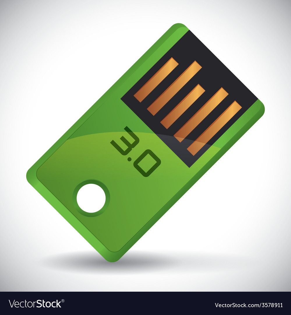 Usb connection design eps10 graphic vector | Price: 1 Credit (USD $1)