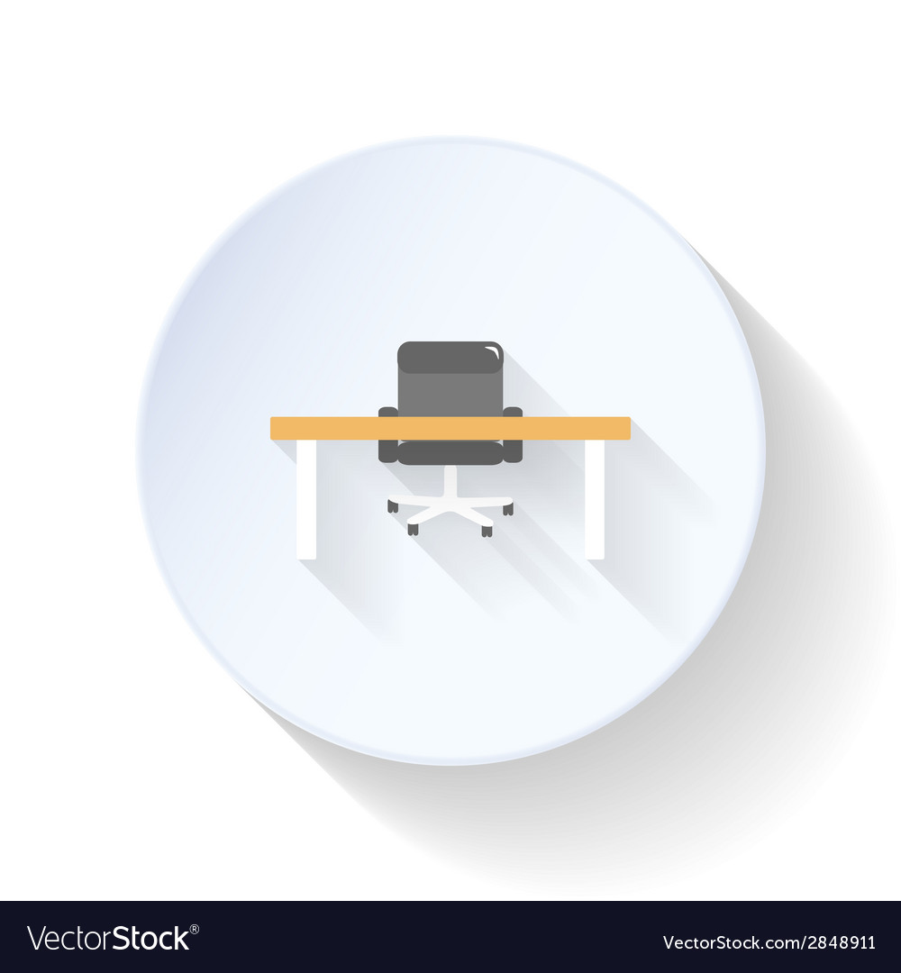 Work place flat icon vector | Price: 1 Credit (USD $1)