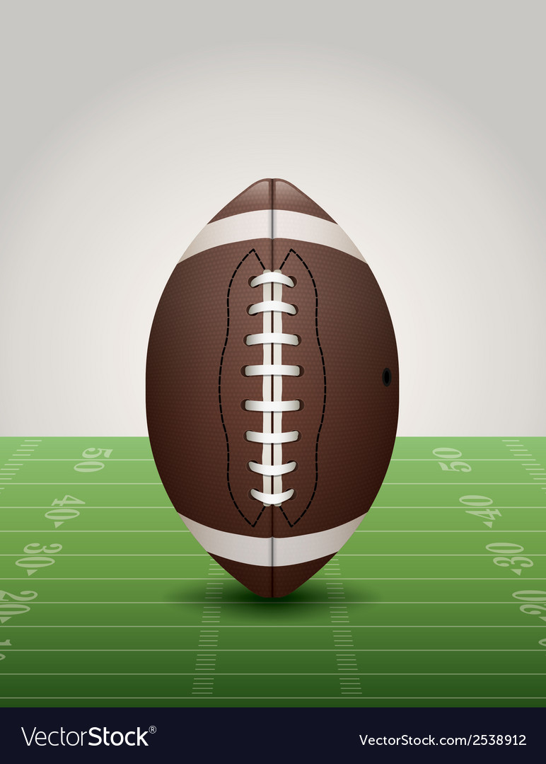 American football and field vector | Price: 1 Credit (USD $1)