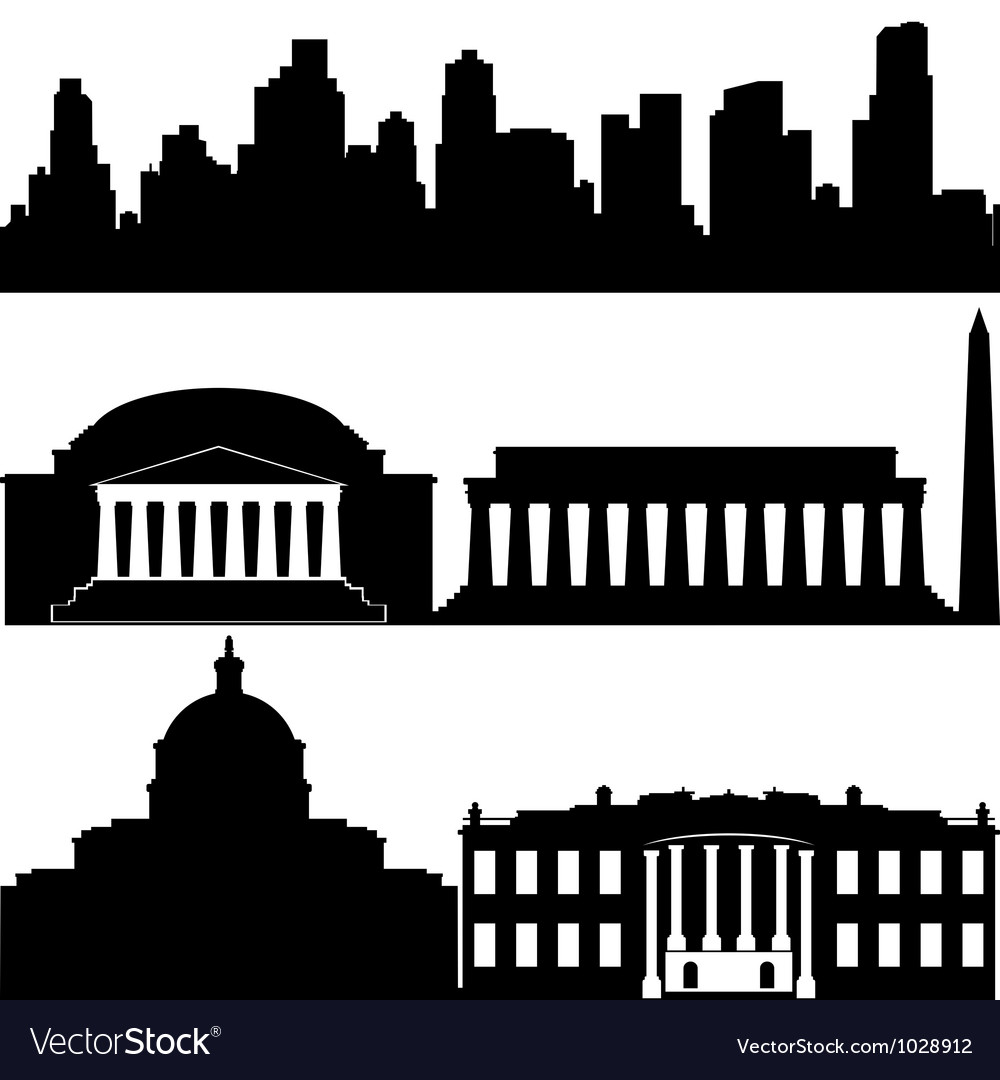 Architecture of washington vector | Price: 1 Credit (USD $1)