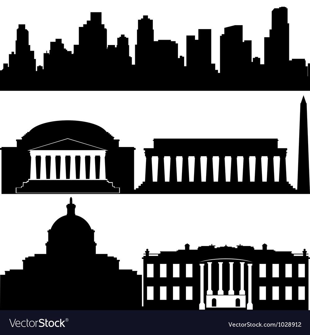 Architecture of washington vector | Price: 1 Credit (USD $1)