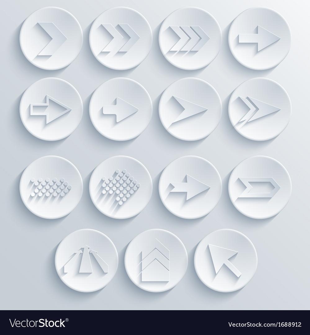 Arrow circle icon set eps 10 vector | Price: 1 Credit (USD $1)