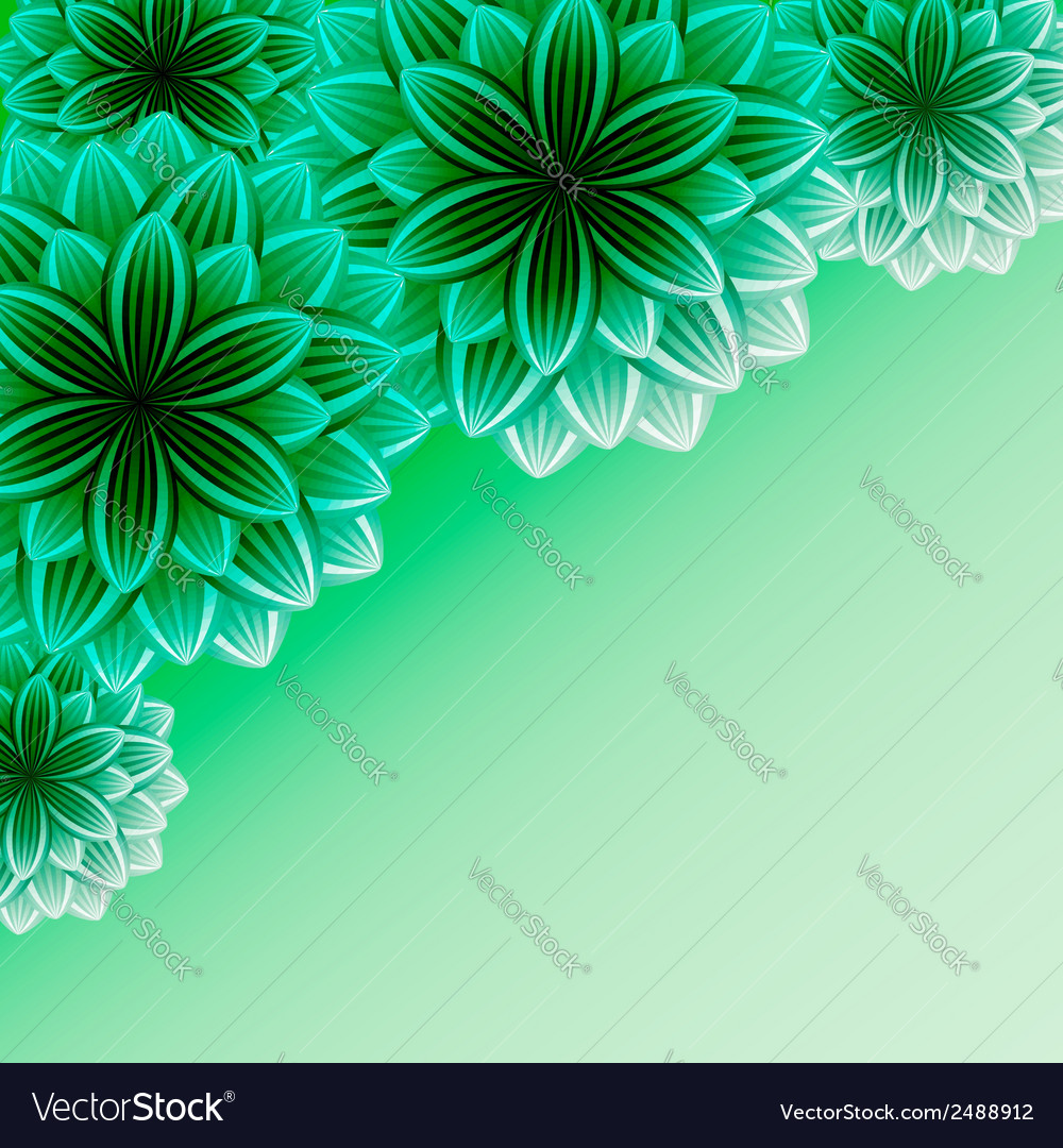 Beautiful ornamental background with flowers vector | Price: 1 Credit (USD $1)