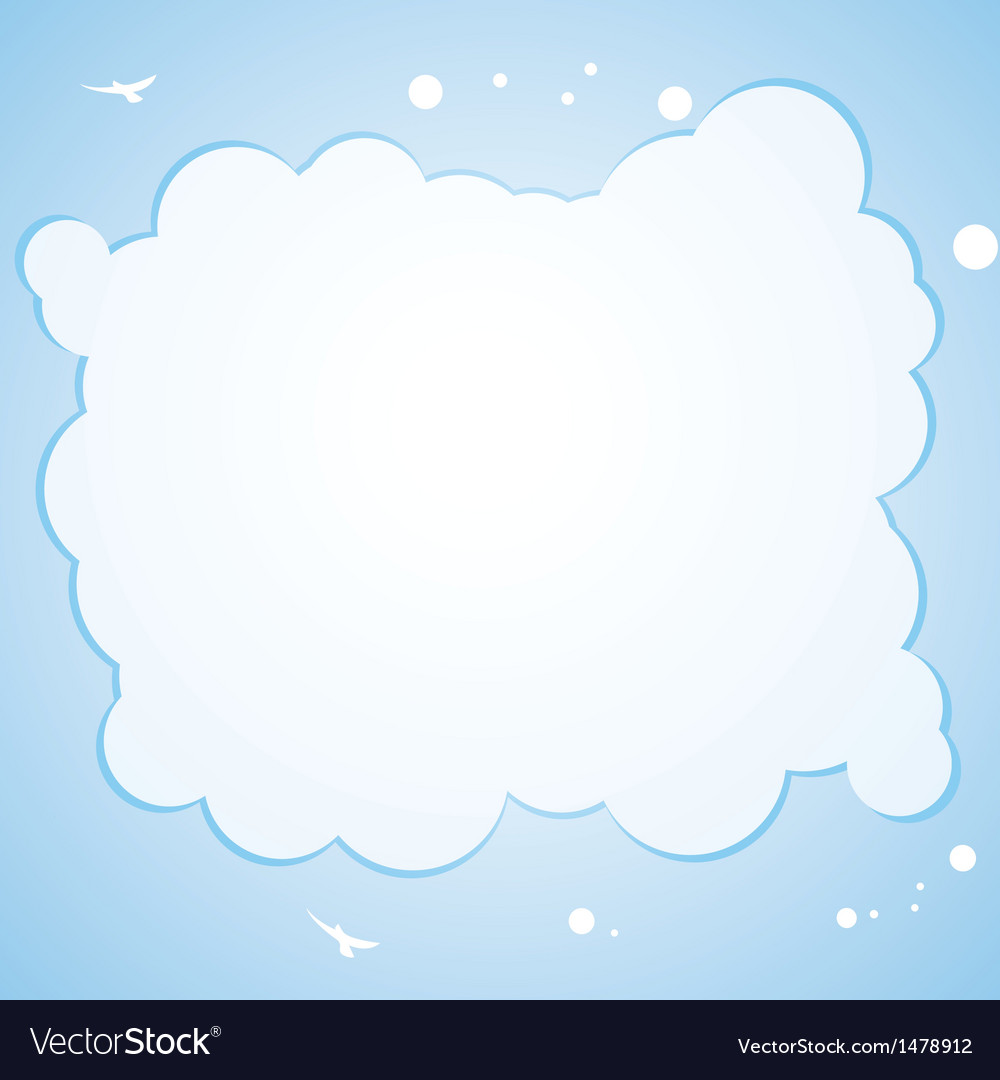 Cloud border background vector | Price: 1 Credit (USD $1)