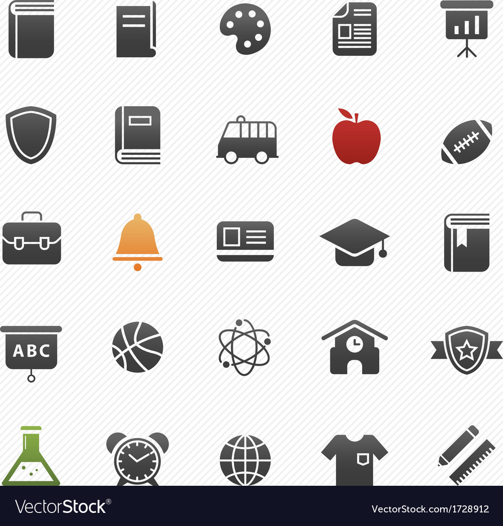 Education symbol icon set vector | Price: 1 Credit (USD $1)