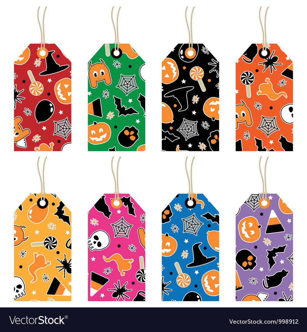 Halloween tags vector | Price: 1 Credit (USD $1)