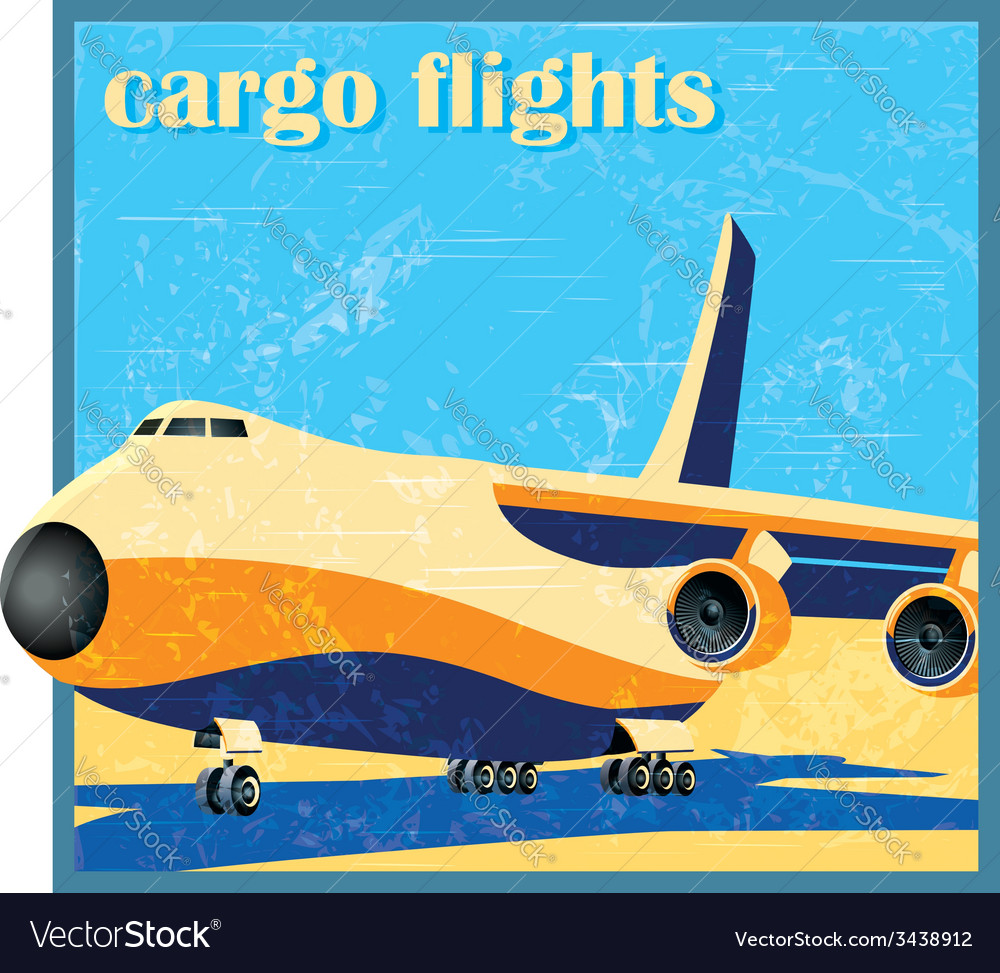 Large cargo plane on takeoff vector | Price: 1 Credit (USD $1)