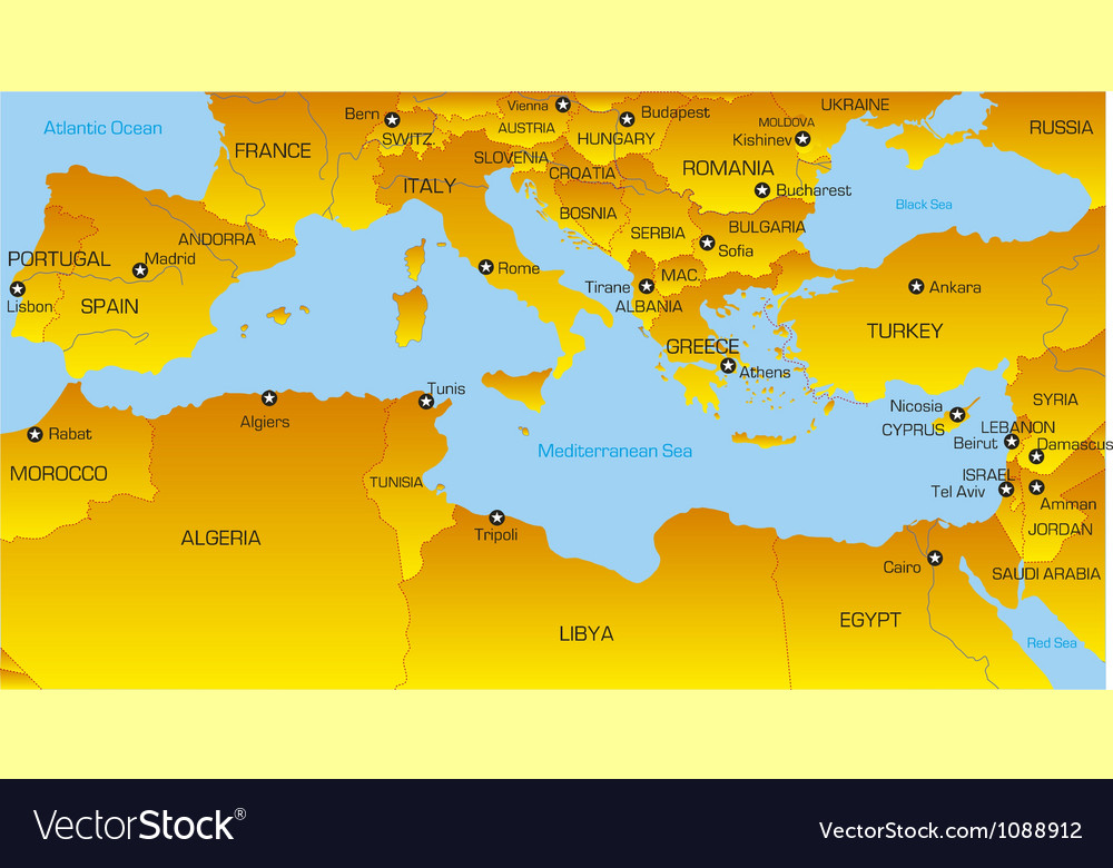 Mediterranean region vector | Price: 1 Credit (USD $1)