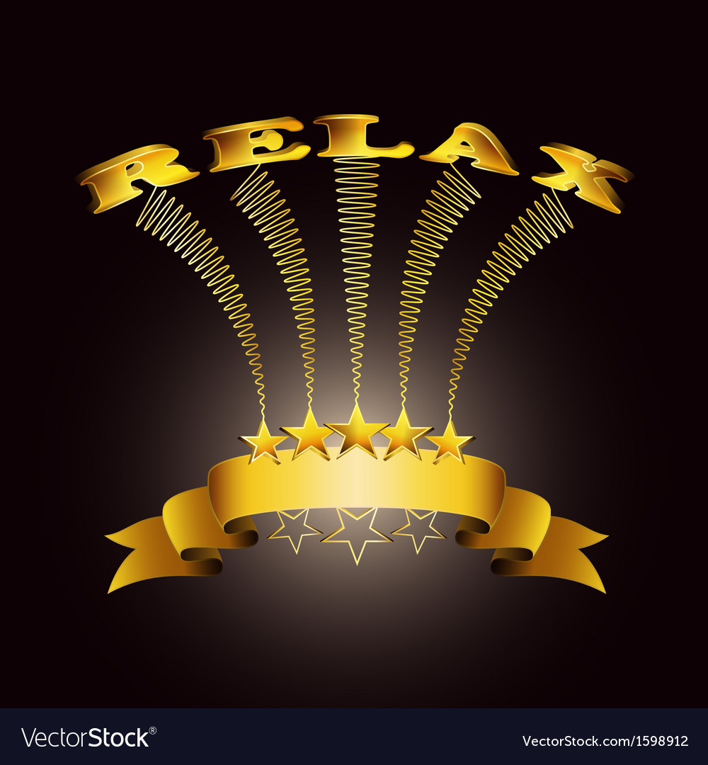 Relax ribbon vector   Price: 1 Credit (USD $1)