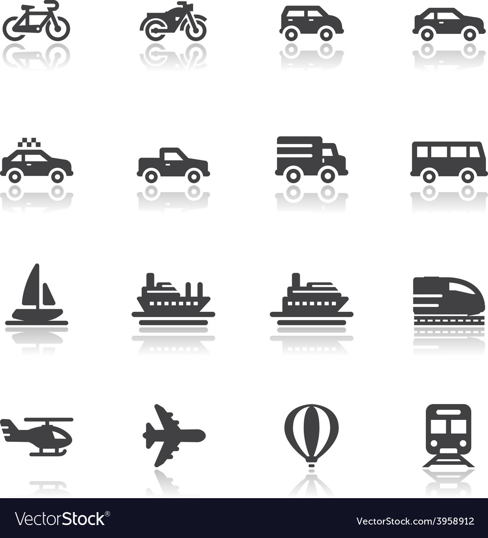 Transportation and vehicles icons vector | Price: 1 Credit (USD $1)