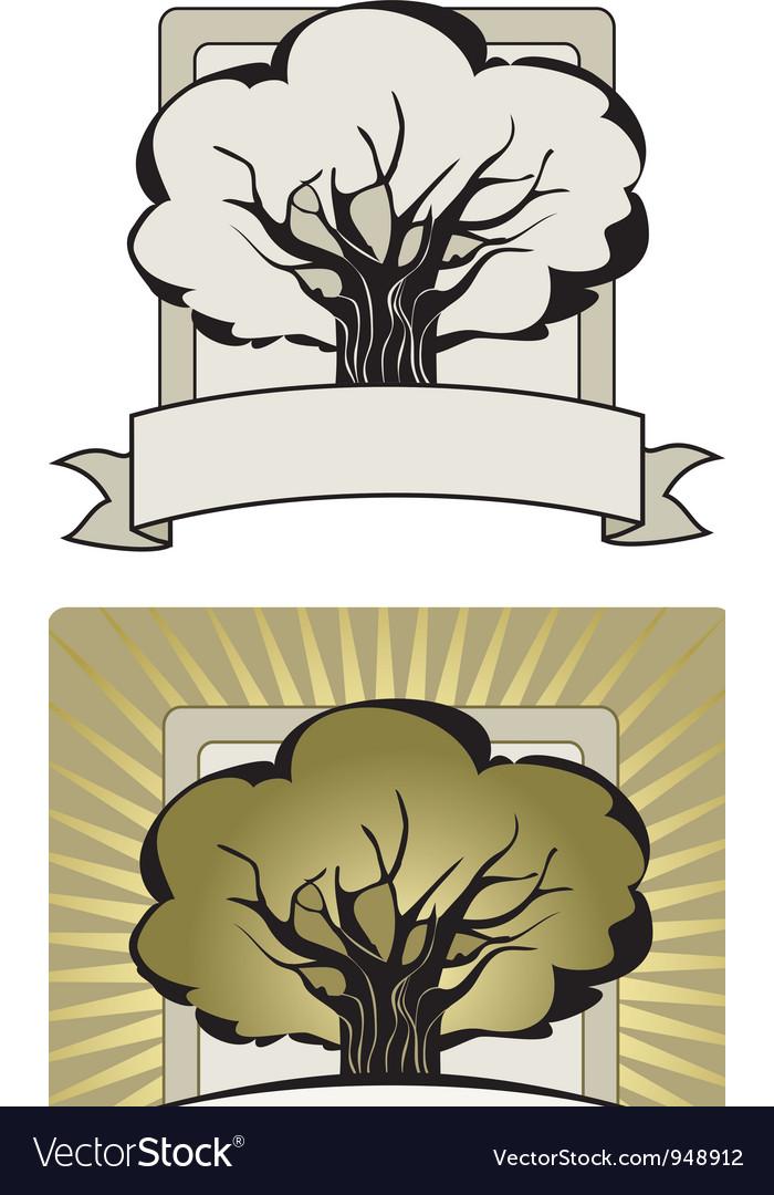 Tree label vector | Price: 1 Credit (USD $1)