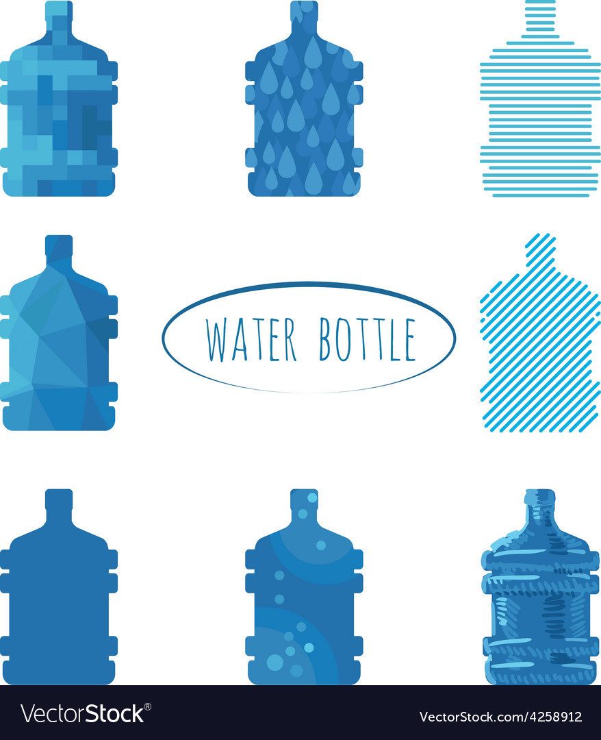 Water bottle sign vector | Price: 1 Credit (USD $1)
