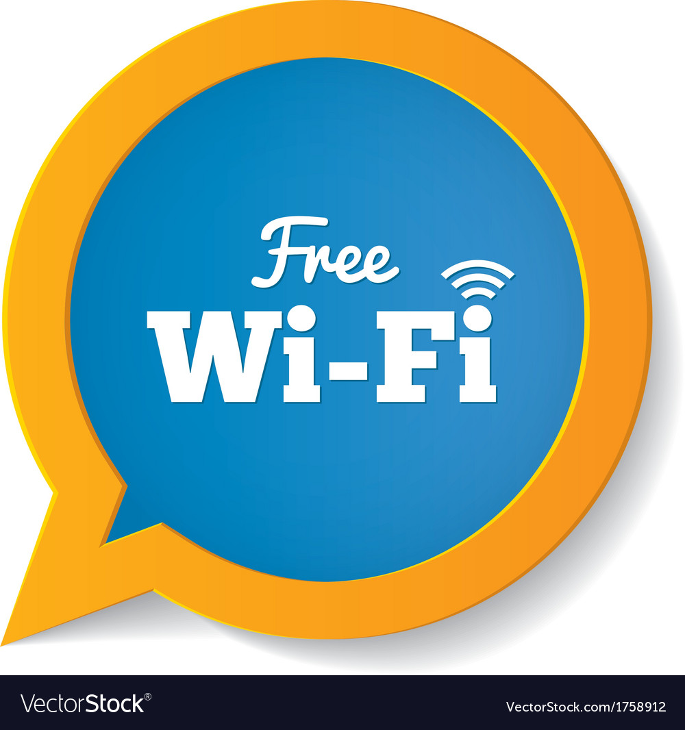 Wifi speech bubble free wifi symbol wifi zone vector | Price: 1 Credit (USD $1)