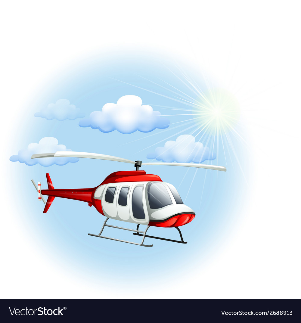 A chopper in the sky vector | Price: 1 Credit (USD $1)