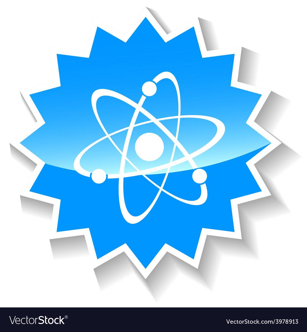 Atom blue icon vector   Price: 1 Credit (USD $1)