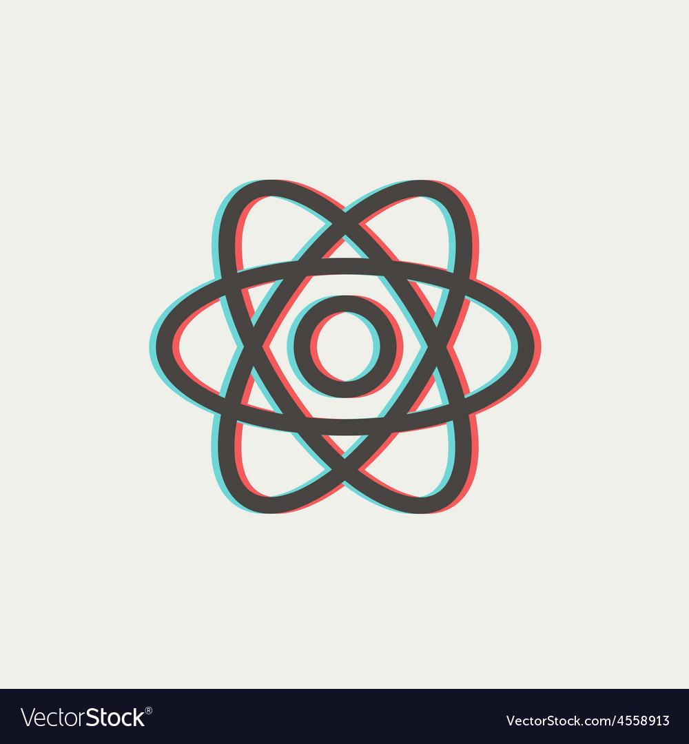 Atom thin line icon vector | Price: 1 Credit (USD $1)
