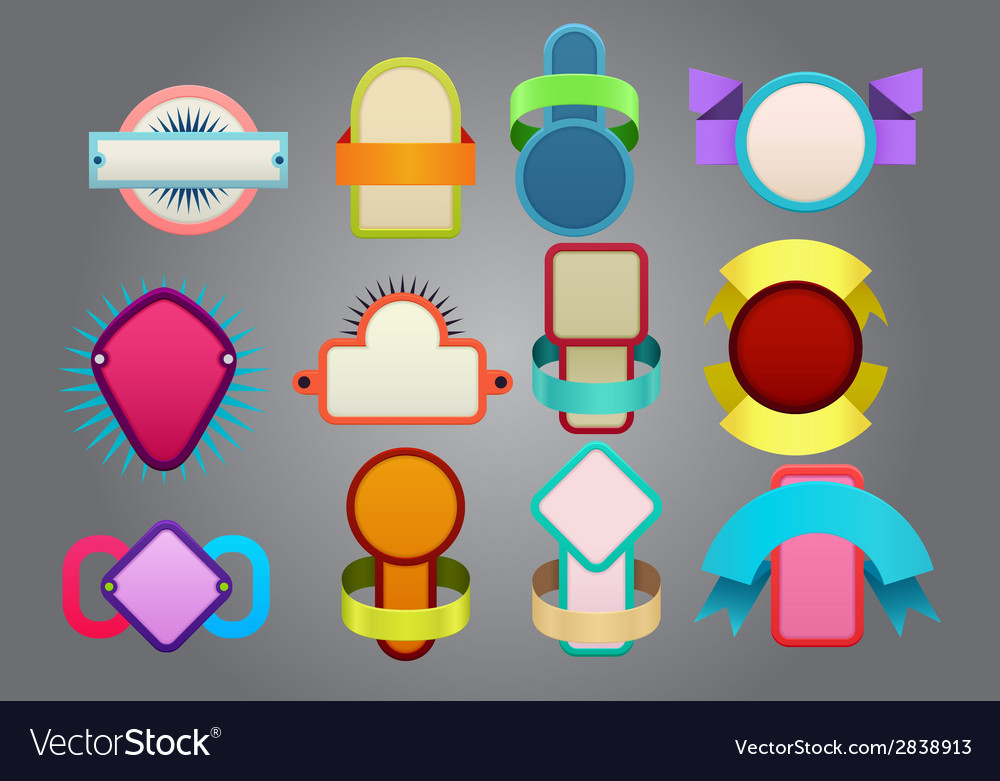 Colorful badges vector | Price: 1 Credit (USD $1)