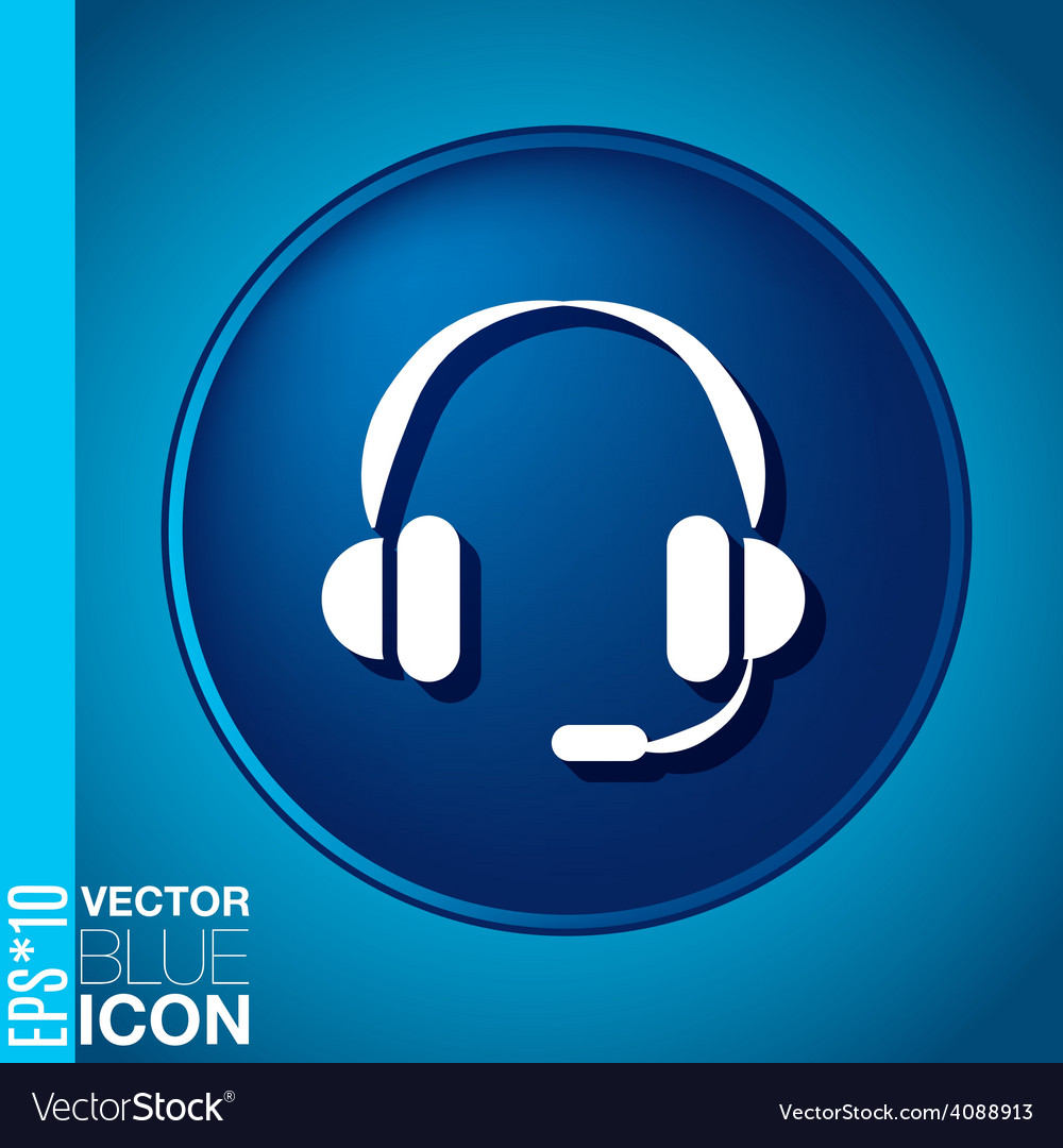Customer support headphone icon vector | Price: 1 Credit (USD $1)