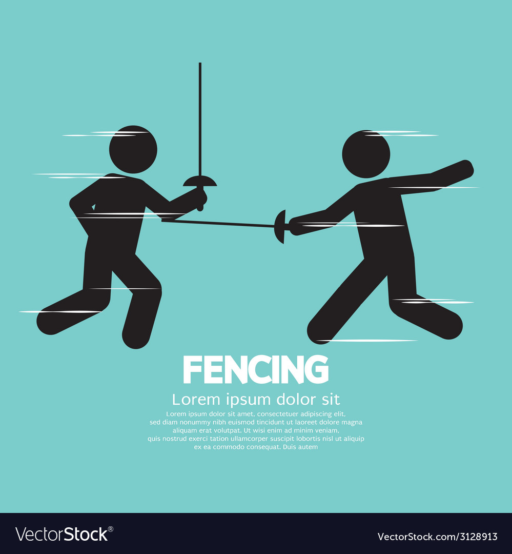 Fencing sport sign vector | Price: 1 Credit (USD $1)