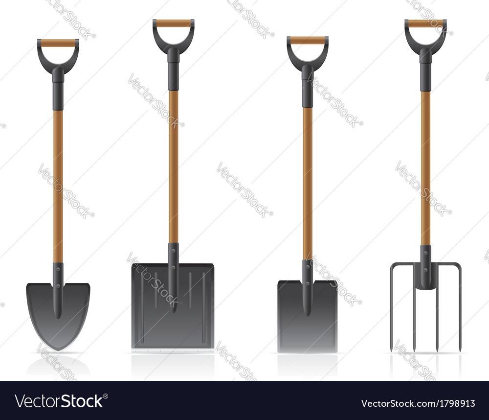 Garden tool shovel 04 vector | Price: 1 Credit (USD $1)
