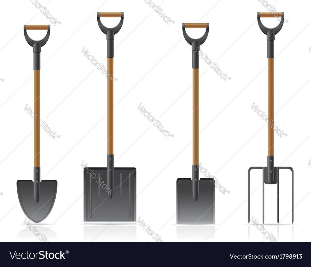 Garden tool shovel 04 vector | Price: 1 Credit (USD $1)