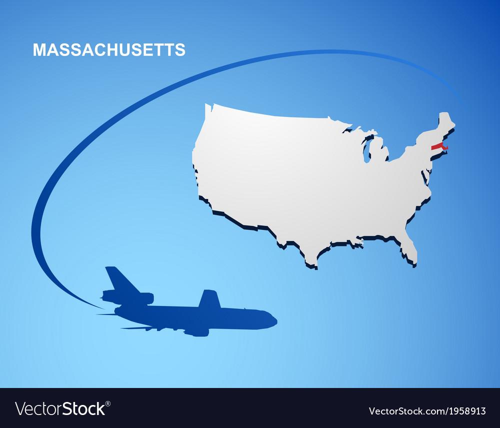 Massachusetts vector | Price: 1 Credit (USD $1)