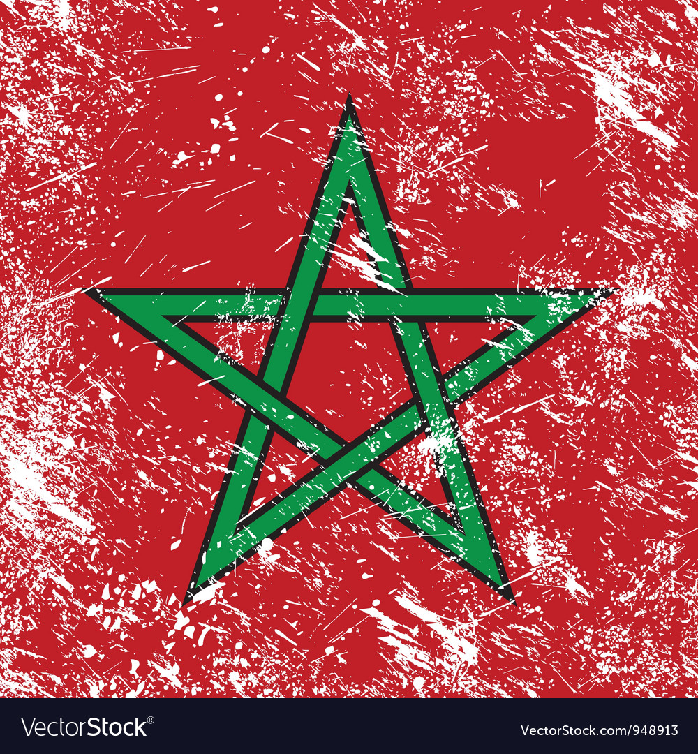 Morocco retro flag vector | Price: 1 Credit (USD $1)