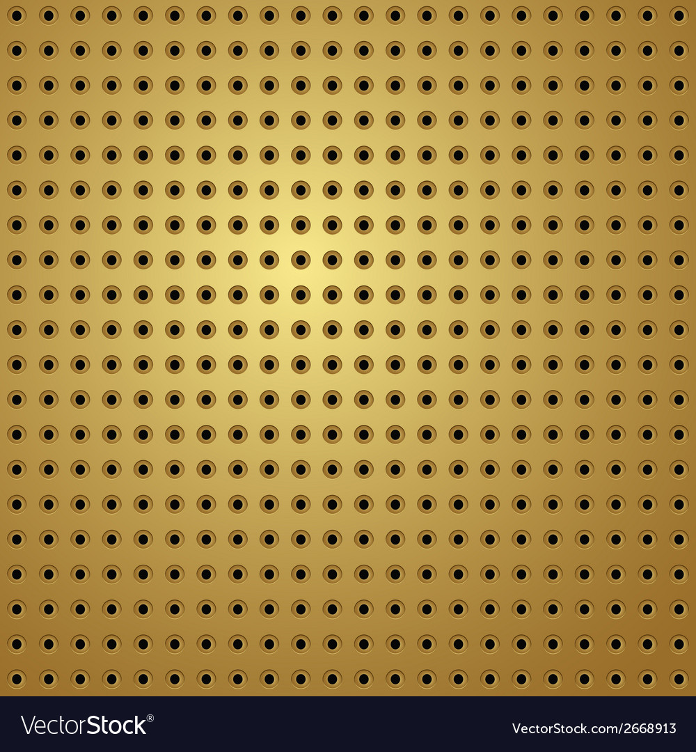 Perforated gold vector | Price: 1 Credit (USD $1)