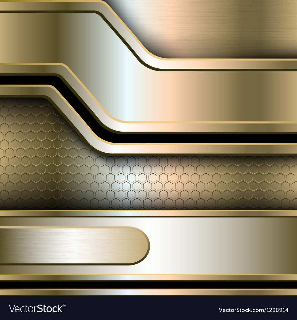 Abstract background metallic banners vector | Price: 1 Credit (USD $1)