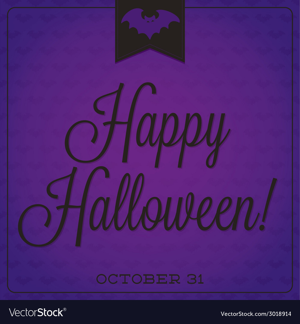 Bat retro typographic halloween card vector | Price: 1 Credit (USD $1)