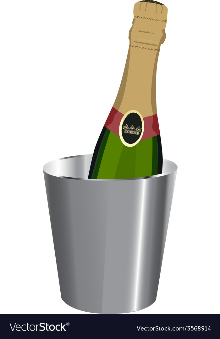 Champagne in ice bucket vector | Price: 1 Credit (USD $1)