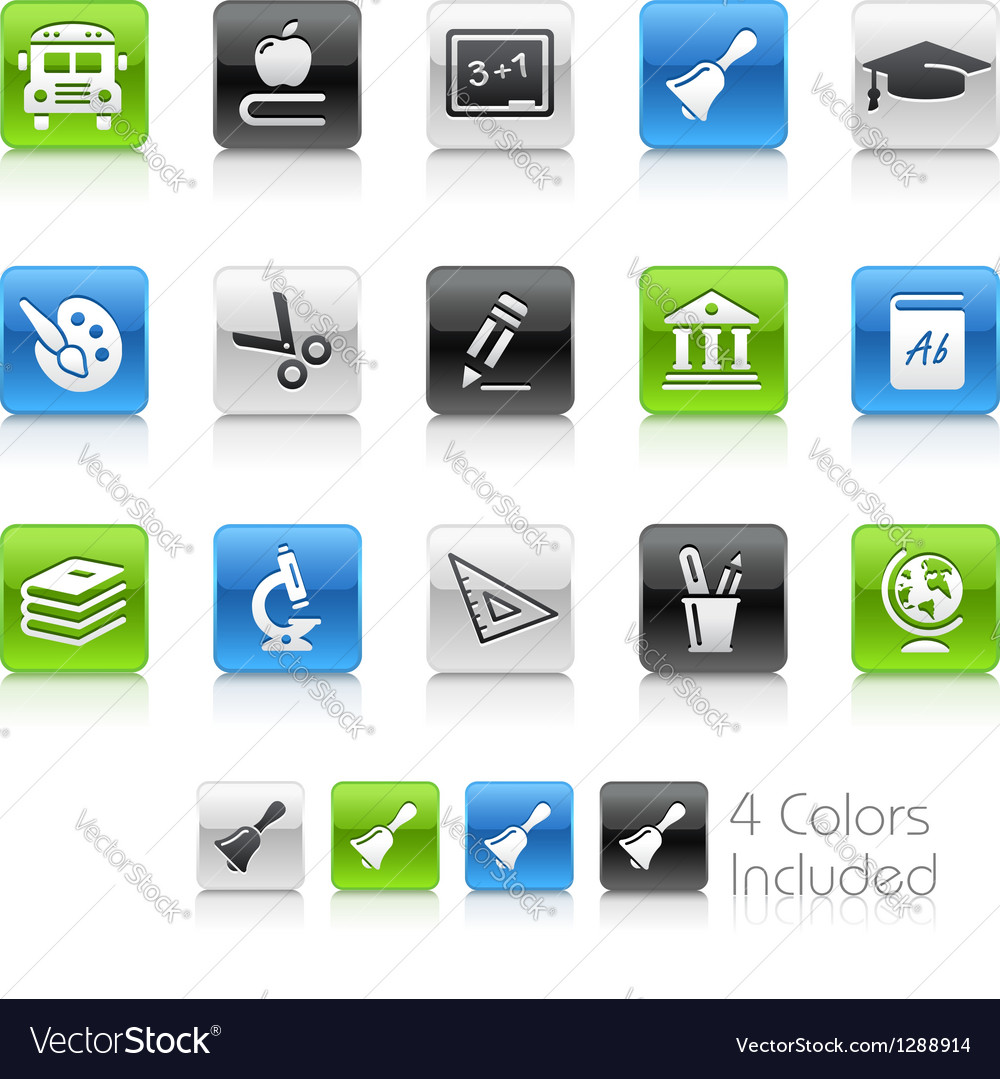 Education icons clean series vector | Price: 1 Credit (USD $1)